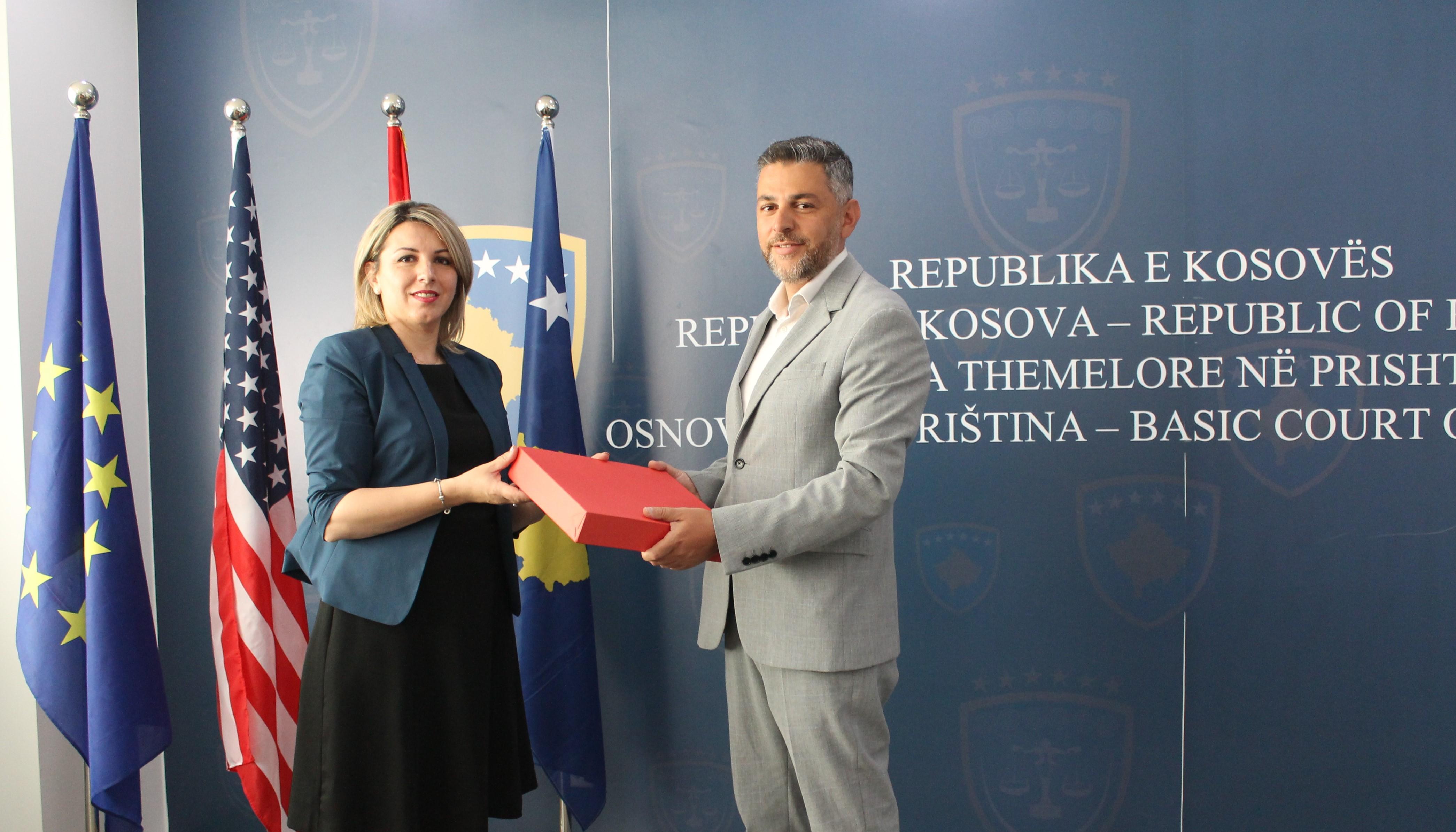 Gjyqtarja Albina – Shabani Rama pranon zyrtarisht detyrën e Kryetares së Gjykatës Themelore të Prishtinës