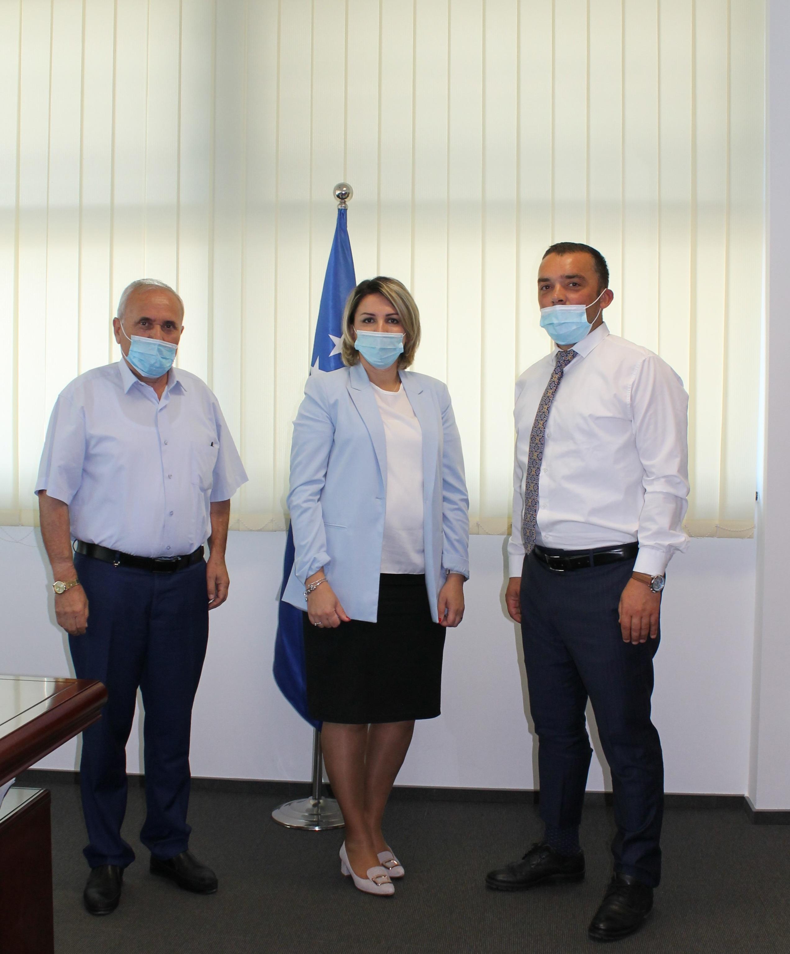 Kryetarja Shabani Rama ka pritur në takim Kryetarin e Degës Regjionale të OAK-së  në Prishtinë