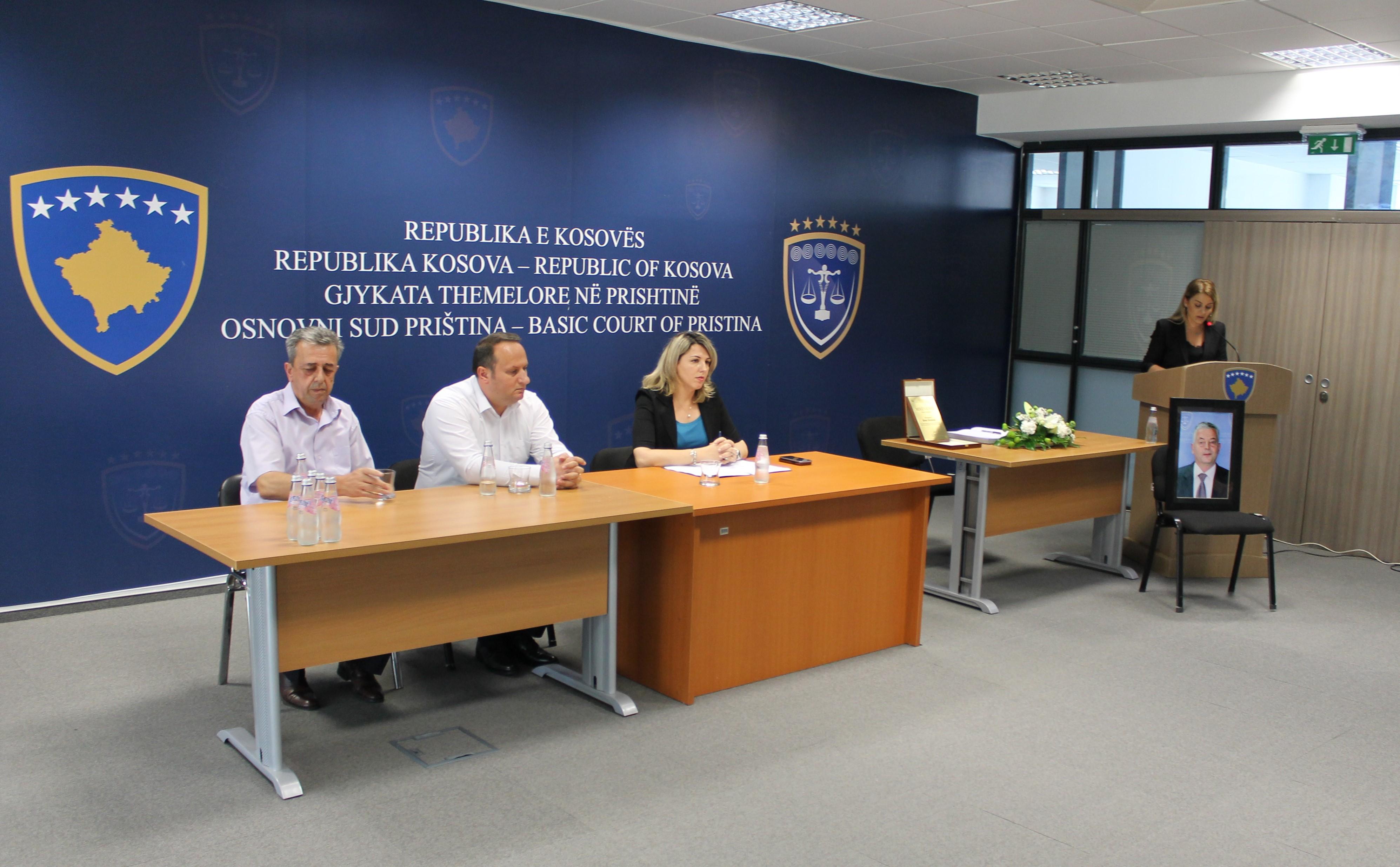 Mbahet mbledhja komemorative për gjyqtarin e Gjykatës Themelore në Prishtinë, Enver Shabanaj