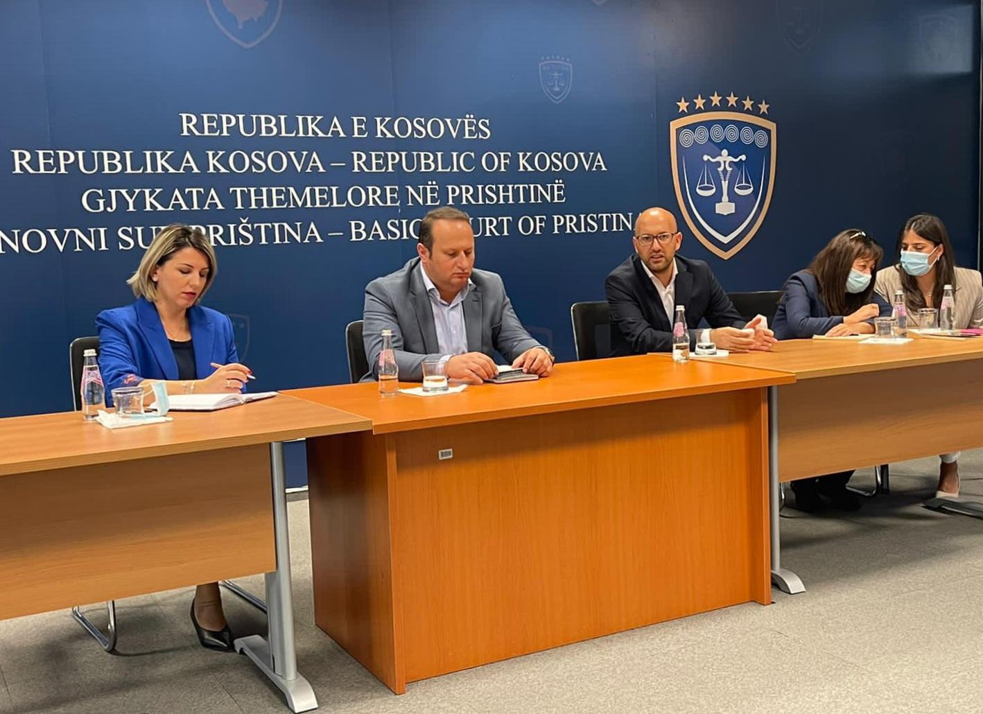 Kryetarja e Gjykatës Themelore në Prishtinë Albina Shabani Rama ka pritur në takim Kryesuesin e Këshillit Gjyqësor të Kosovës dhe përfaqësuesit e Projektit të Evidencës Penale