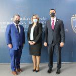Kryetarja Shabani-Rama ka pritur në takim shefin e ri të Departamentit të Drejtësisë në Ambasadën Amerikane në Prishtinë